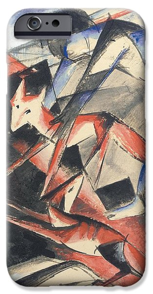 Noah iPhone Cases - Noah and the Fox iPhone Case by Franz Marc