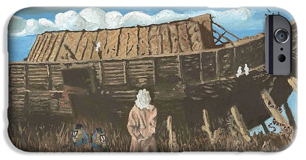 Noahs Ark Paintings iPhone Cases - Noah iPhone Case by Rick Koestler