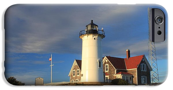 Cape Cod Lighthouse iPhone Cases - Nobska Lighthouse Cape Cod iPhone Case by John Burk