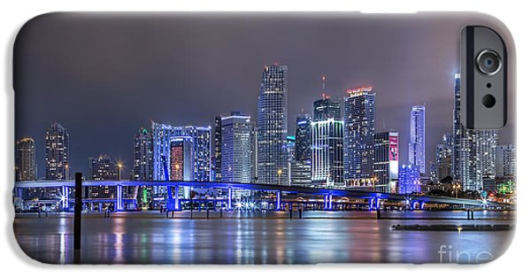 Miami Photographs iPhone Cases - Nocturnal Blossom iPhone Case by Evelina Kremsdorf