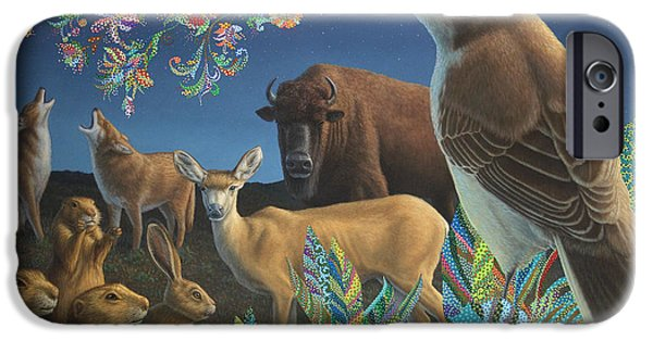 Bison iPhone Cases - Nocturnal Cantata iPhone Case by James W Johnson