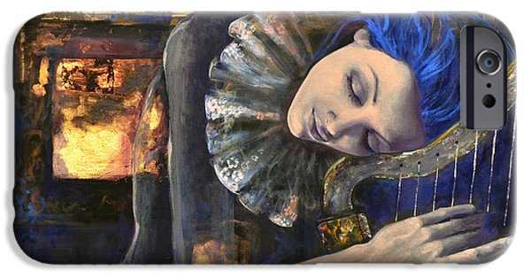 Laces iPhone Cases - Nocturne iPhone Case by Dorina  Costras