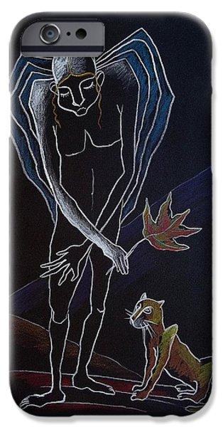 Night Angel iPhone Cases - Nocturnes. ANGELS AUTUMN iPhone Case by Elisheva Nesis