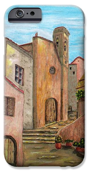 Village Mixed Media iPhone Cases - Nola iPhone Case by Pamela Allegretto