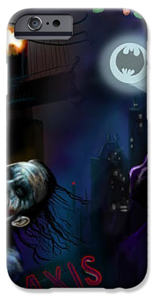 Nolan Batman VS Burton Batman iPhone Case by Vinny John Usuriello