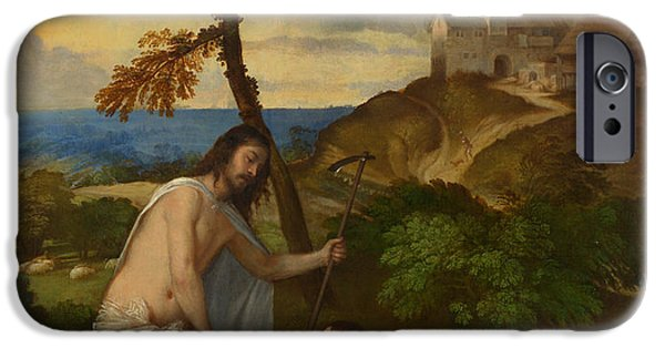 The Resurrection Of Christ iPhone Cases - Noli me Tangere iPhone Case by Titian