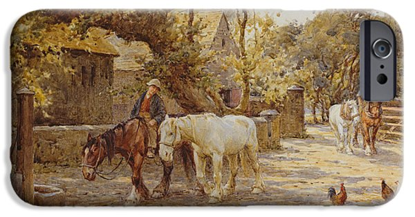Rural iPhone Cases - Noon Day  iPhone Case by Joseph Harold Swanwick