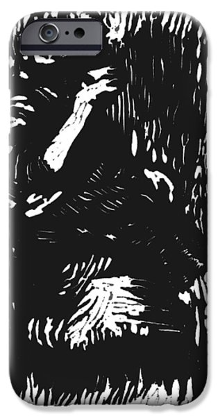 Lino Cut iPhone Cases - Noonday Thirst iPhone Case by Seth Weaver