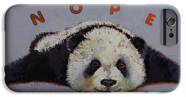 Michael iPhone Cases - Nope iPhone Case by Michael Creese