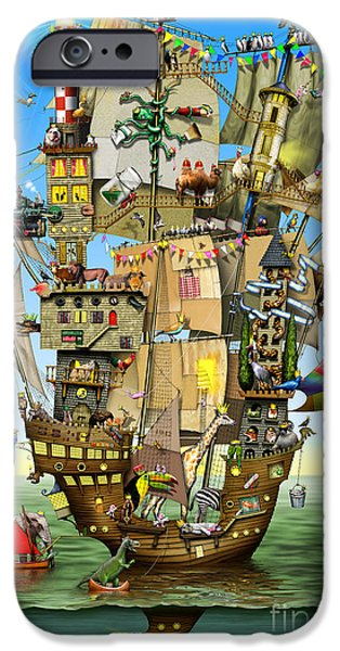 Lighthouse iPhone Cases - Norahs Ark iPhone Case by Colin Thompson