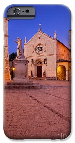Benedict iPhone Cases - Norcia Umbria iPhone Case by Brian Jannsen