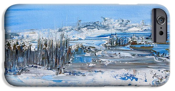 Snowy Day iPhone Cases - Nordic cold iPhone Case by Aline Halle-Gilbert
