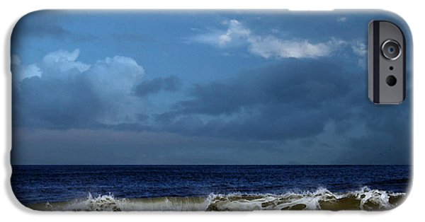 Storm Clouds Cape Cod iPhone Cases - Noreaster Blowin In iPhone Case by William Sargent