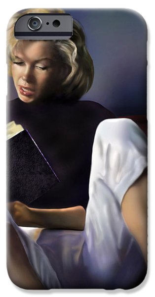Norma Jeane Baker iPhone Case by Reggie Duffie