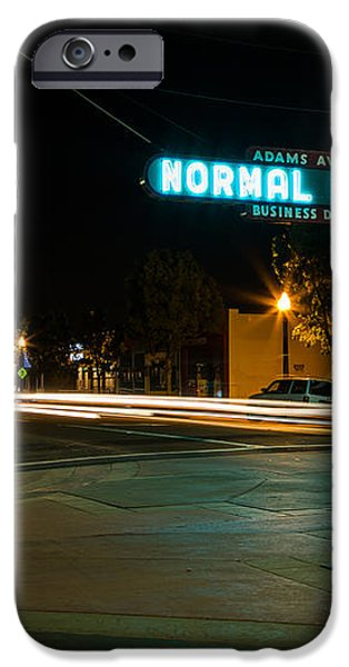 Normal Heights Neon iPhone Case by John Daly