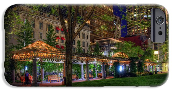 Scenic Boston iPhone Cases - Norman B Leventhal Park - Boston iPhone Case by Joann Vitali