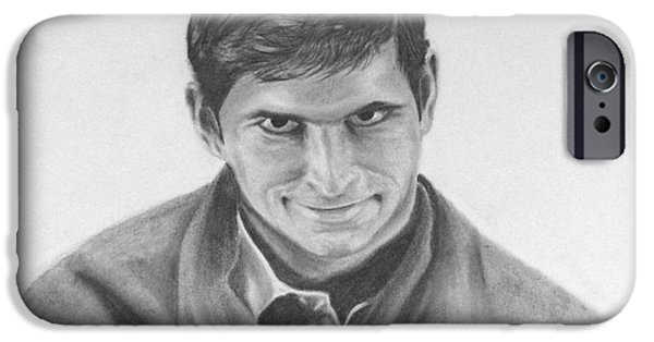 Films By Alfred Hitchcock iPhone Cases - Norman Bates Portrait iPhone Case by M Oli