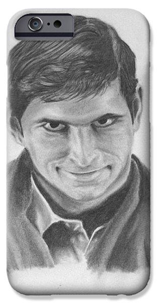 Norman Bates Portrait iPhone Case by M Oli