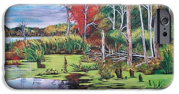 Alga iPhone Cases - Norman Lake  iPhone Case by Sharon Duguay