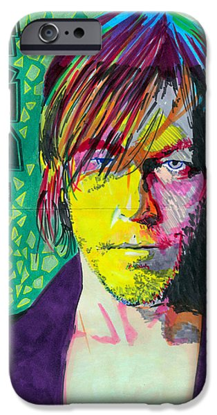 Lincoln iPhone Cases - Norman Reedus iPhone Case by Kyle Willis