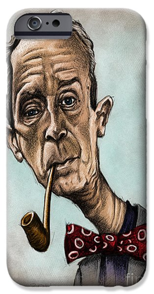 Caricature Artist iPhone Cases - Norman Rockwell iPhone Case by Andre Koekemoer
