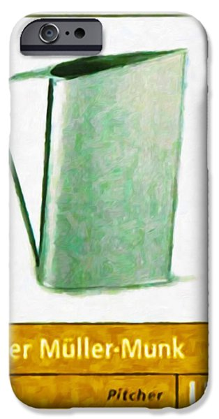 Old Pitcher Paintings iPhone Cases - Normandie pitcher iPhone Case by Lanjee Chee