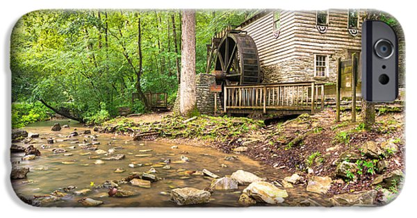 Grist Mill iPhone Cases - Norris Dam Grist Mill - Tennessee iPhone Case by Gregory Ballos