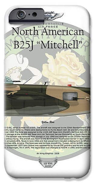North American B-25J Mitchell iPhone Case by Arthur Eggers