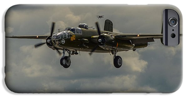 North American B-25j Mitchell iPhone Cases - North American B-25j Mitchell iPhone Case by Puget  Exposure
