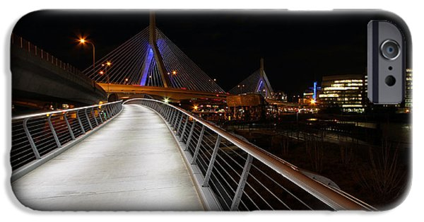 Charles River iPhone Cases - North Bank Bridge iPhone Case by Juergen Roth