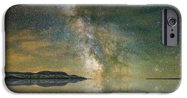 Rift iPhone Cases - North Bend Milky Way iPhone Case by Aaron J Groen