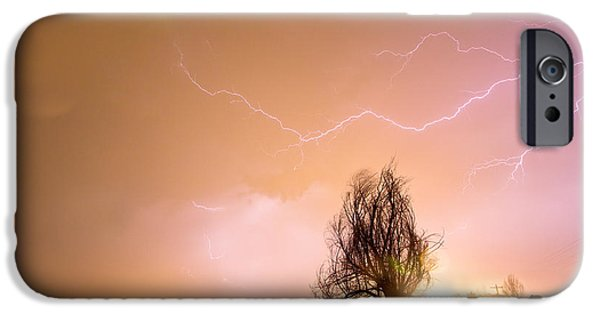The Lightning Man iPhone Cases - North Boulder County Colorado Lightning Strike iPhone Case by James BO  Insogna
