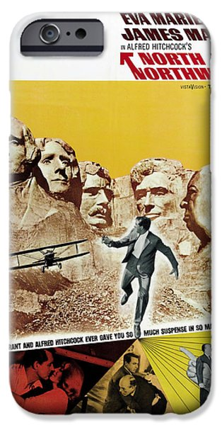 Recently Sold -  - 1950s Movies iPhone Cases - North by Northwest - 1959 iPhone Case by Nomad Art And  Design