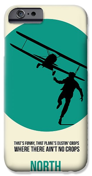 Film iPhone Cases - North by Northwest Poster 1 iPhone Case by Naxart Studio