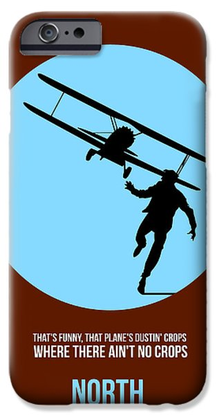 Films By Alfred Hitchcock iPhone Cases - North by Northwest Poster 2 iPhone Case by Naxart Studio