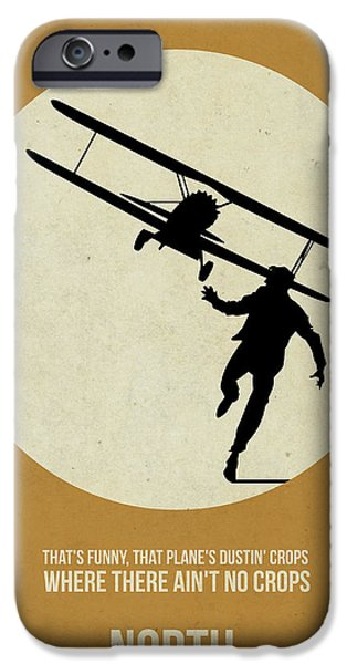 North by Northwest Poster iPhone Case by Naxart Studio