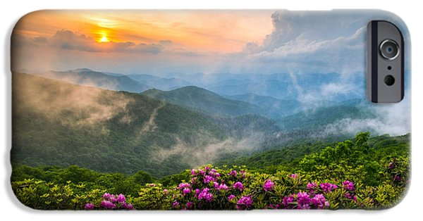 Best Sellers -  - Dave iPhone Cases - North Carolina Blue Ridge Parkway Spring Appalachian Mountains NC iPhone Case by Dave Allen