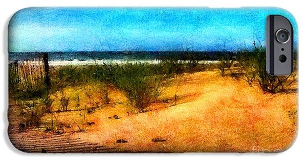 Sand Dunes Pastels iPhone Cases - North Carolina Coast iPhone Case by Elizabeth Coats