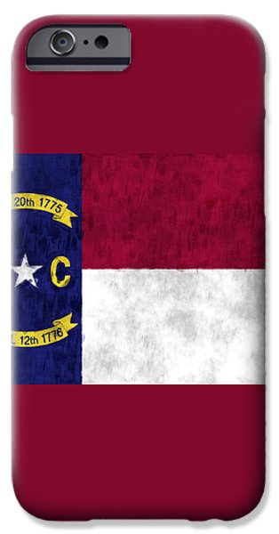 North Carolina Flag iPhone Case by World Art Prints And Designs