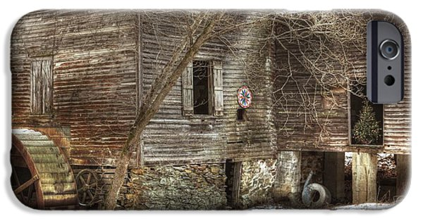 Grist Mill iPhone Cases - North Carolina Grist Mill iPhone Case by Benanne Stiens
