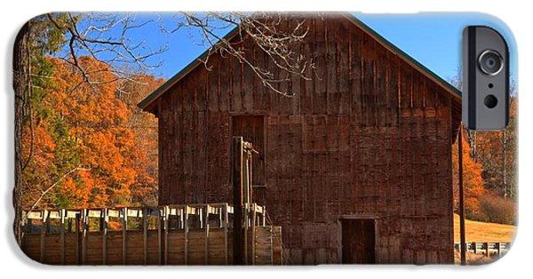 Grist Mill iPhone Cases - North Carolina McKinney Grist Mill iPhone Case by Adam Jewell