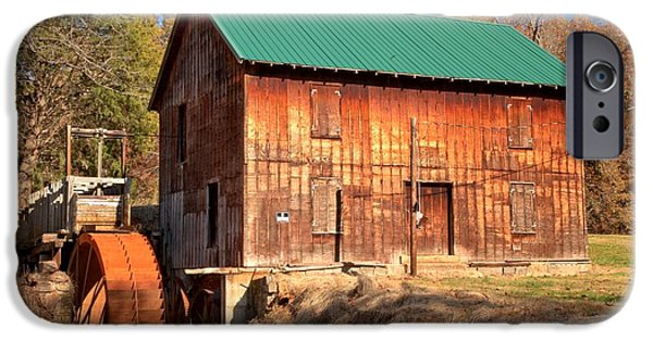 Grist Mill iPhone Cases - North Carolina McKinney Mill iPhone Case by Adam Jewell