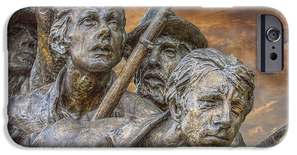 Statue Of Confederate Soldier iPhone Cases - North Carolina Memorial at Gettysburg iPhone Case by Randy Steele