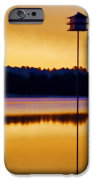 Birdhouse iPhone Cases - North Carolina Sunrise iPhone Case by Carol Leigh