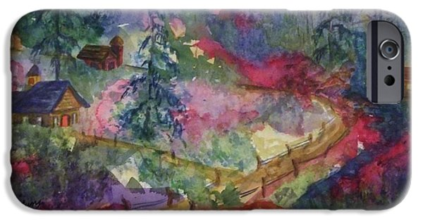 Covered Bridge iPhone Cases - North Country Summer iPhone Case by Ellen Levinson