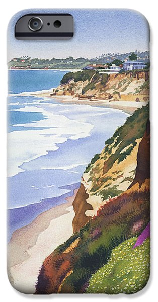 North Sea iPhone Cases - North County Coastline iPhone Case by Mary Helmreich