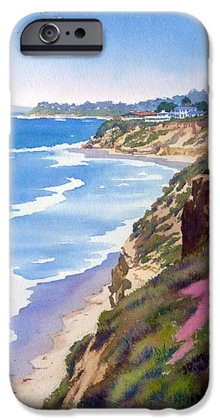 Sea iPhone Cases - North County Coastline Revisited iPhone Case by Mary Helmreich