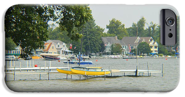 Fed iPhone Cases - North Cove Lake Wawasee iPhone Case by Tina M Wenger