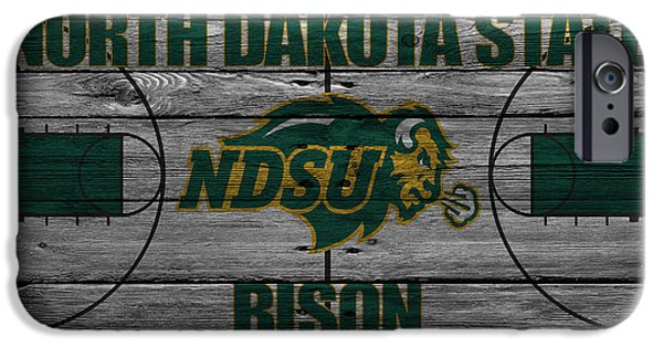 Bison iPhone Cases - North Dakota State Bison iPhone Case by Joe Hamilton