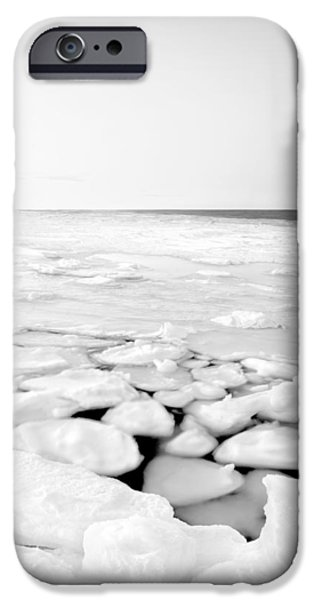 Winter In Maine iPhone Cases - North East Ice iPhone Case by David Butler